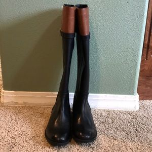 Black Clarks Riding Boots